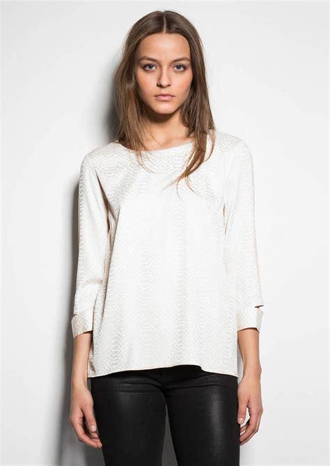 ayumi blouse ahlvar ayumi snake jacquard blouse white
