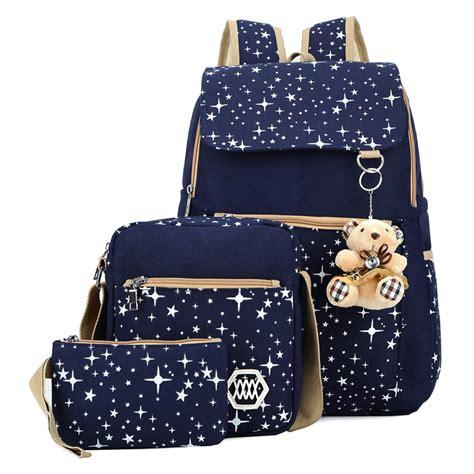 Backpack Fashion Set Banana fashion canvas shoulder school bag backpack set travel satchel rucksack mochila escolar