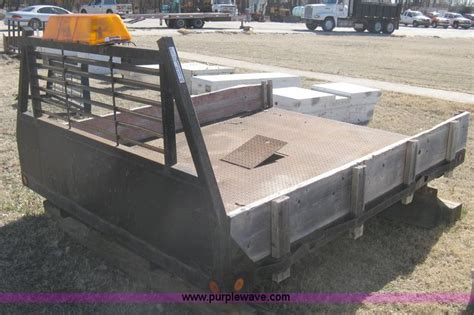 Flatbed Headache Rack by Circle D Steel Flatbed No Reserve Auction On Thursday