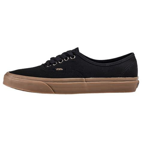 vans authentic light gum vans authentic light gum mens trainers in black