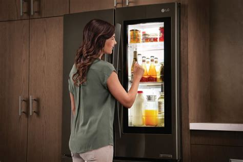 Can You Open A Refrigerator Door From The Inside by Lg Instaview Panel Goes Transparent To See What S Inside