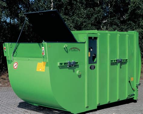 how does a commercial trash compactor work wet waste compactor bergmann mpb405 waste compactors