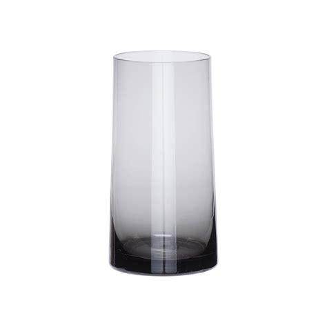 Slim Glass Vase Slim Grey Glass Vase By Peastyle Notonthehighstreet