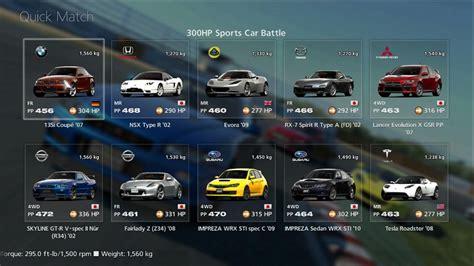 car selection quick match online gran turismo 174 6 manual