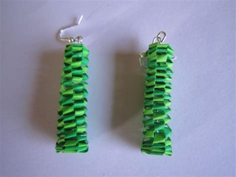 Quilling Paper Earring - handmade jewelry paper quilling lanyard earrings stretched