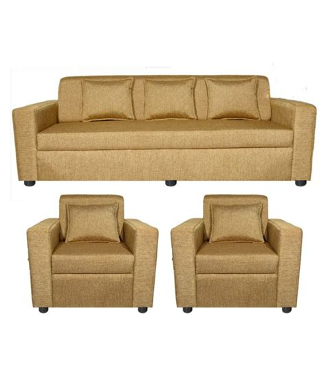 cushion sofa set 311 gioteak hemlet fabric 3 1 1 sofa set with cushions buy