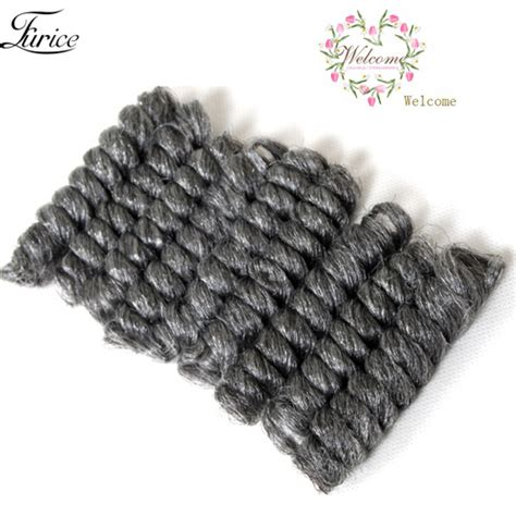 grey synthetic hair for braiding grey crochet hair extension 10in jamaican bounce curl