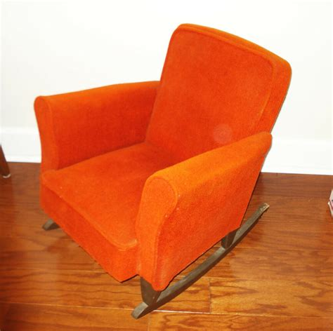 childrens upholstered chair 1950 s vintage child s upholstered rocking chair