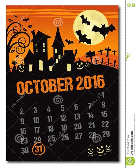 imagenes octubre halloween halloween calendario de la naranja de octubre de 2016