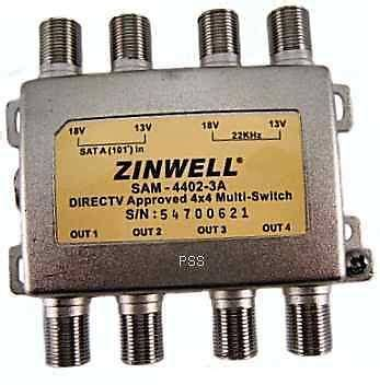 Multiswitch 4x4 switches splitters