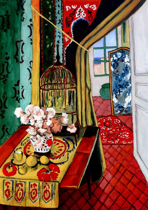 matisse room room with a view after matisse painting by tom roderick