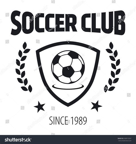 soccer label sle text logo template stock vector