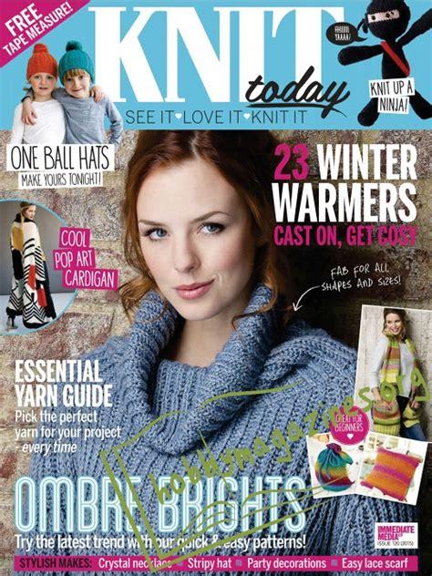 knitting today knit today january 2016 187 hobby magazines free