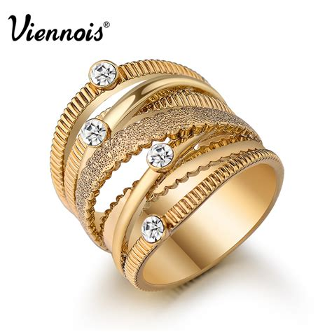 aliexpress com buy viennois brand new wide gold plated