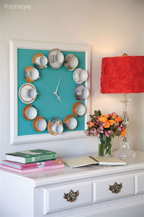 decoration ideas to make at home teatime wall clock wednesday diy