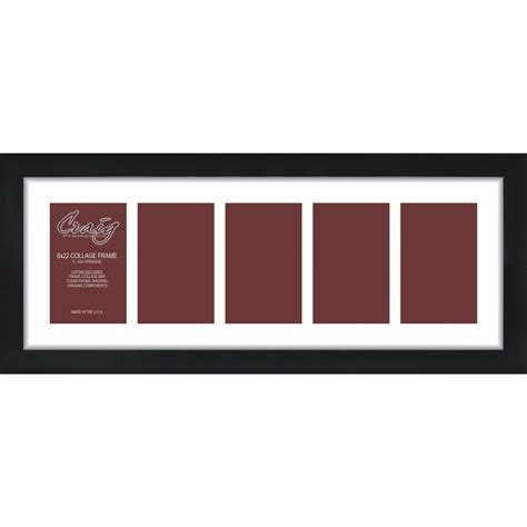 12 X 15 Mat Opening by Craig Frames 12x12 Black Picture Frame White Mat