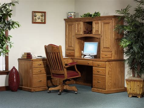 solid oak l shaped desk with hutch furniture gt office furniture gt computer desk gt amish