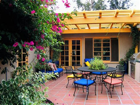 Patio Colours by Colorful Outdoor Rooms Outdoor Spaces Patio Ideas