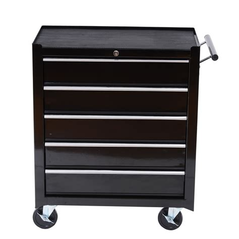 Drawer Cart With Wheels by 31 Quot Homcom 5 Drawer Wheels Storage Cart Tool Chest Tool