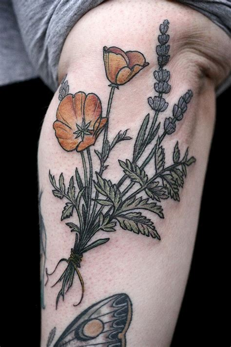beautiful botanical tattoos by salem witch descendant