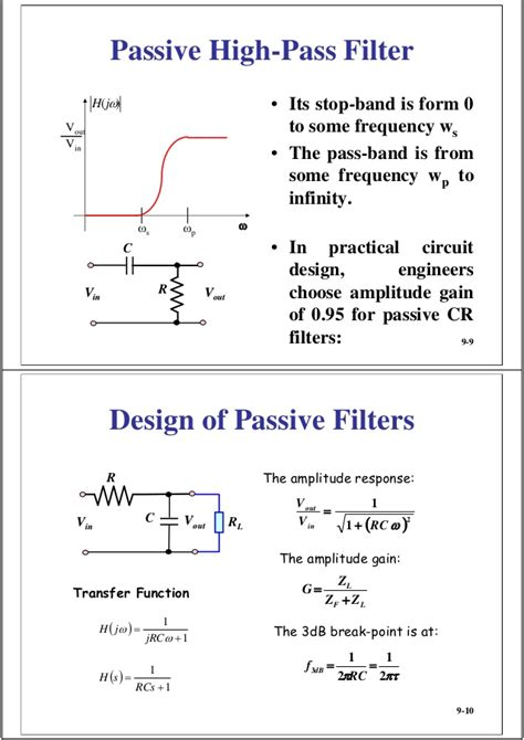 vout vin high pass filter 09 rc filters