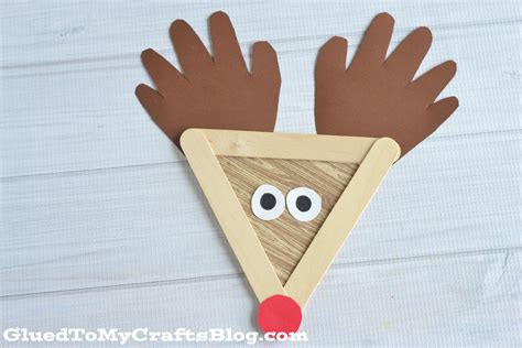 popsicle stick craft popsicle stick reindeer kid craft glued to my crafts