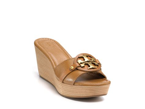 three sandals lyst burch patti 3 wedge sandals in blue