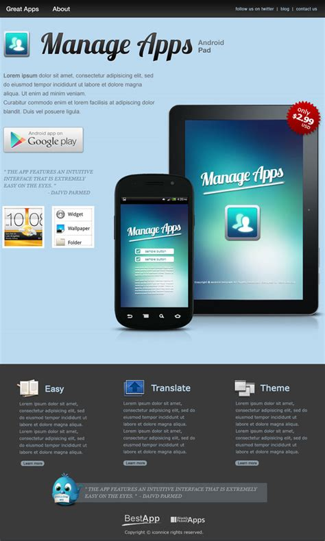 free website templates for android mega android bundle templates icons more only 18