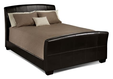 bedroom set with mattress new manhattan queen bed chocolate leon s