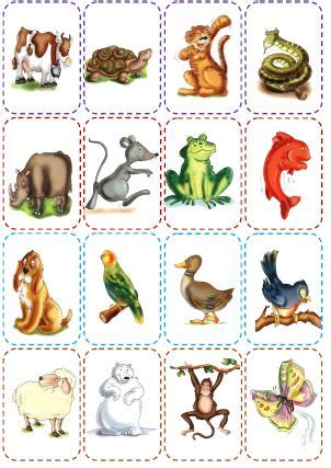 printable animal memory game animal pairs clipart clipart suggest