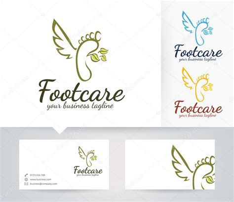 foot care vector logo with alternative colors and business