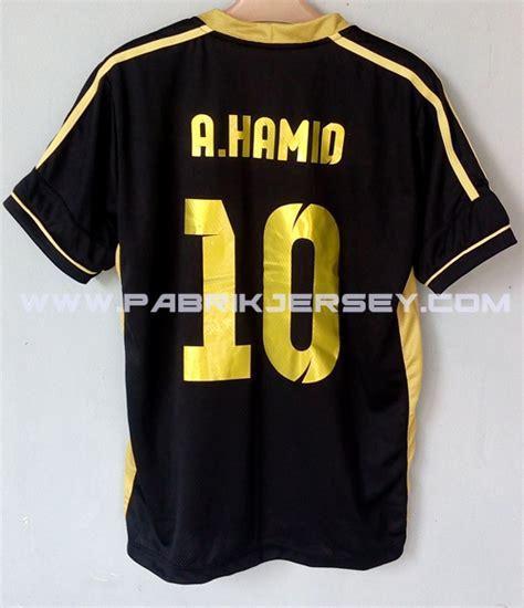 Kaos Logo Club Everton Warna Hitam desain kaos futsal warna emas dan murah pabrik jersey