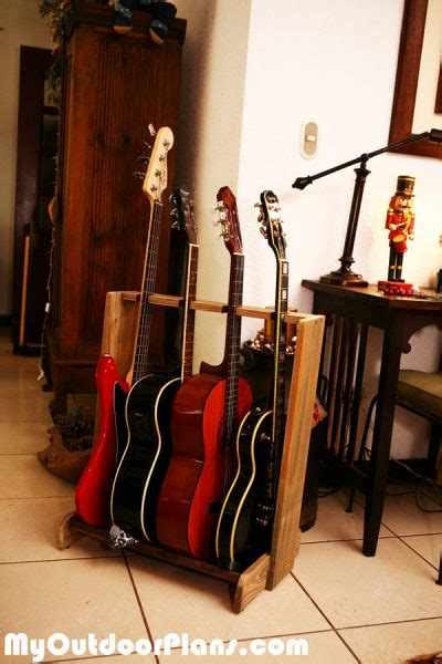 diy basic multi guitar stand myoutdoorplans  woodworking plans  projects diy shed