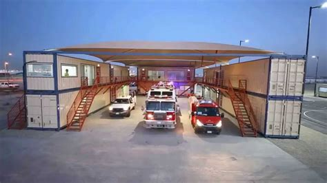 shipping container fire station  monitac youtube