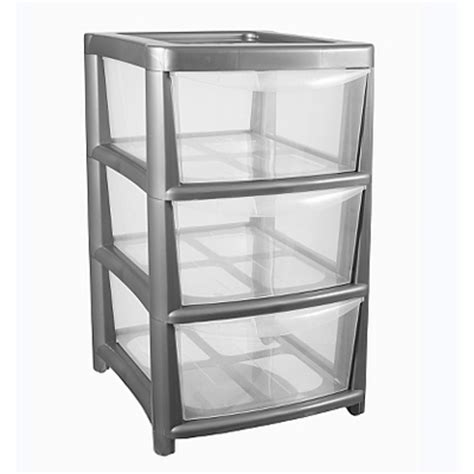 asda silver 3 drawer storage unit storage asda direct