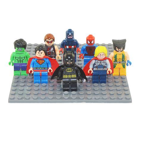 Promo 1 Set Marvel Avenger Heroes 8pcs Heroes Dlp9050 T 8pcs lot new heroes avenger kid baby mini