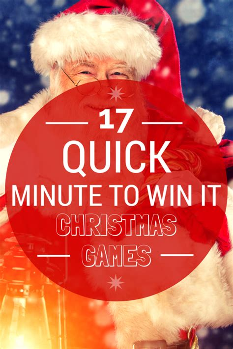 17 quick minute to win it quot christmas games for your