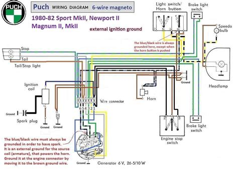 puch moped wiring diagram puch free engine image for