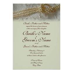 Formal Invitation Pearls And Lace Wedding Invitation Formal 5 Quot X 7 Quot Invitation Card Zazzle
