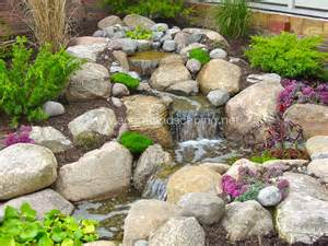 Front Yard Water Fountain - pondless waterfalls water features rochester ny traditional landscape other metro by