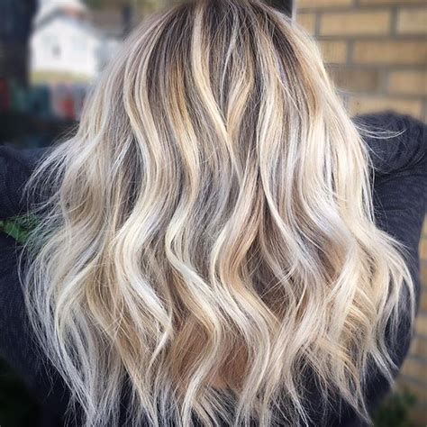 hairstyles with partial highlights full highlight root shade and gloss with 9v in shadeseq