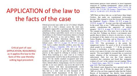 fact pattern exles how to brief a legal case