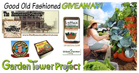 Garden Tower Project Giveaway - the homestead survival holiday garden tower giveaway