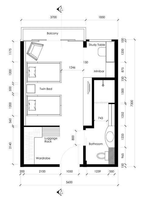 Layout Of Twin Room In Hotel | stefilia anindita hartono interior design wix com
