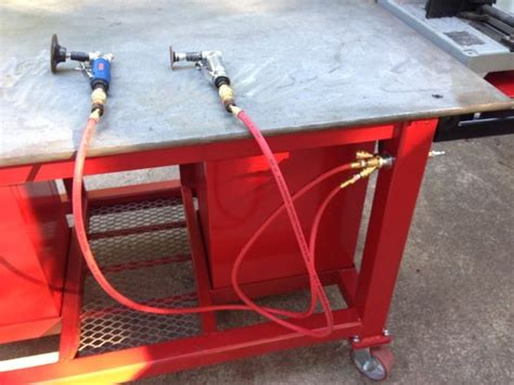 welding bench ideas dukers welding table build page 3 the garage journal