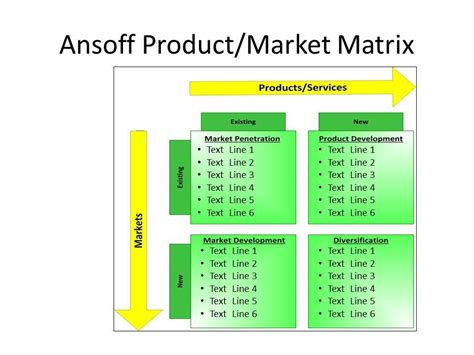 ansoff s product market matrix powerpoint template