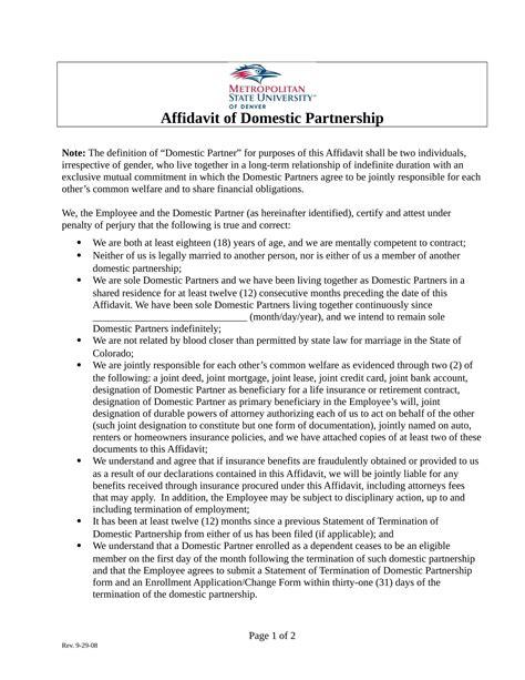 20 sle affidavit forms