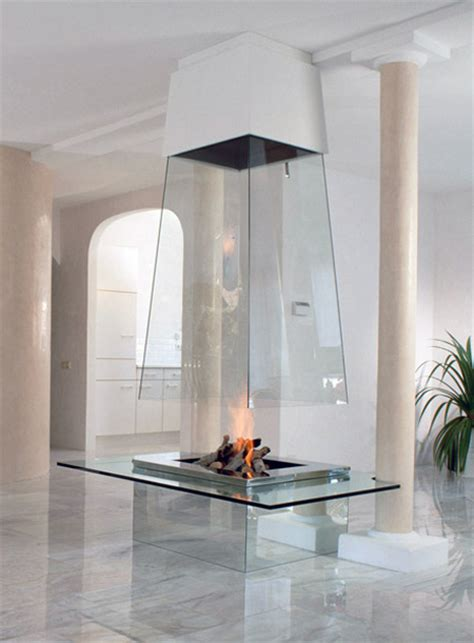 glass fireplace modern and creative fireplace designs
