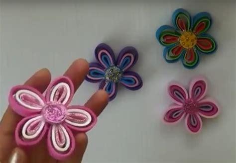 imagenes flores de goma eva flores de goma eva dos tutoriales con sus paso a paso