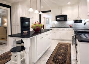 custom kitchen countertop black and white capitol granite